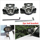 2 Pcs Metal Car 4X4 4WD A Pillar Hood Mount Bracket Clamp Holder For LED Lights