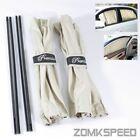 Universal 50x47cm Beige Mesh Interlock VIP Car Window Curtain Sunshade UV Block