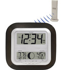 Wireless Digital Weather Sensor Wall Hang-Tabletop Outdoor Station Atomic Clock