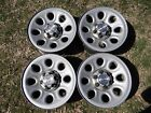 Stock Chevy Steel 6 Lug Wheels 17 X 7 Factory OEM with Center Caps and Lug Nuts