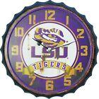 Bottle Cap Wall Clock  Louisiana State University Tigers