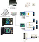 5 Doors security control systems kit power supply box 280kg Mag lock RFID Reader