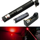 8000M Military Red 5mW 650nm Laser Pointer +Battery&Charger Pen Lazer Light Zoom