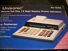 Vintage Unisonic XL-1248 12 Digit Desktop Printer 4k Memory,2 Color Printout EUC