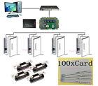 4 Doors Access System Kits PROXCARDⅡ Waterproof Metal Keypad Reader Strike Lock
