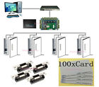 4 Doors Access Systems PROXCARDⅡ Metal Keypad thin Card Reader ANSI Strike Lock