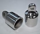 2PCS Eye End Cap Bimini Top Fitting Hardware 3/4'' 316 Marine Stainless Steel