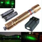 10 miles Green 5mw Powerful Laser Pointer Pen Light Strong Burning + 2x Battery