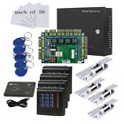 Wiegand 4 Door Access Control Systems+ Strike Fail Secure NO Mode Lock+Power Box