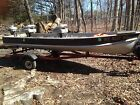 12 Foot V Hull Aluminum Boat, motor and Trailer