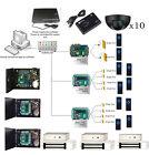 TCPIP 10 Doors Access Control Entry Systems Kit Exit Motion Sensor 280kg EM Lock