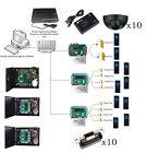 10 Doors Access Control Gates Systems Kit & Exit Motion Sensor +ANSI Strike Lock