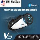 1x BT Bluetooth Motorcycle Motor Helmet Intercom Interphone Wireless Headset V3