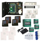 4 Door Security Access Systems & Magnetic Lock+Fire Emergency Exit+Keypad Reader