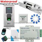 ZKTeco Waterproof Fingerprint+RFID Card Door Access Control System+Strike Lock