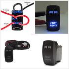 1x Boat Car 5 Pin Laser Rocker Switch Blue LED Light Backlit Front lights On-Off