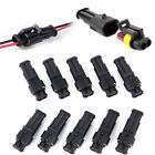 10pcs Super Waterproof Electrical 2 Pole Wire Connector Plug For Car Van Boat