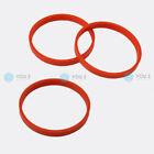 3 x Centering Ring Orange Spacer Rings for Aluminum Rims 72,0 - 66,6 mm MAK TSW