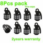 8Pcs Cool Grenade Bomb Truck Wheel Rims Tyre Tire Valve Stems Air Dust Cover Cap