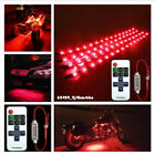 4pcs Red 12'' 30CM ATV UTV LED Strip Light & Wireless Remote Control For Yamaha