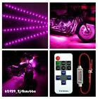 "Wireless Remote + 4pcs Purple ATV UTV 12"" 3528SMD 15 LED Light Strip For Yamaha"