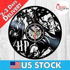 Harry Potter Wall Clock Hermione Granger Ron Weasley Wand Vinyl Xmas Gifts Decor