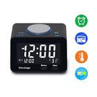 USB Alarm Clock, Digital Alarm Clock Radio with USB charging Port, Clock, Alarm,