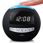 OnLyee Digital Dimmable Alarm Clock Radio & Wireless Bluetooth Speaker with AM F
