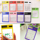 Solar Power Transparent touch screen calculator Mini handheld ultra-thin AS