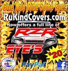 "Yamaha Raptor 700/450/350/250 RED EYES HeadLight Covers ""RUKINDCOVERS ORINIGAL"""