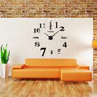 New Flexible Large 3D Mirror Effect Sticker DIY Digital Wall Clock Home Decorate