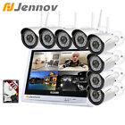 Jennov 8CH 1080P Wireless Home Security IP Camera System Outdoor CCTV Night Kit