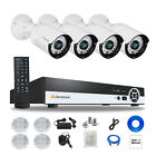 Jennov 4CH Bullet HD 1080P POE ONVIF Security IP Camera Audio System Outdoor