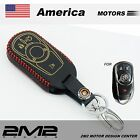 Leather Key fob Holder Case Chain Cover FIT For BUICK LACROSSE ENCLAVE REGAL