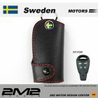 SMARTKEY Leather Keyfob Holder Case Chain Cover For SAAB93 95 9-3 9-5 sportcombi