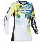 Fly Kinetic Women's Jersey Dark Teal/Yellow Floral MX OffRoad Gear Youth & Adult