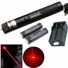 10 Mile Red 5mw 650nm Laser Pointer Pen Light  + 2x 18650 Battery 301 Beam Focus