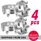 (4) Silver Wheel Spacers 5x4.5 To 5x5 38mm 82.5mm for 1994-2001 Jeep Cherokee