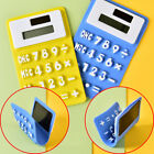 Portable Folding Soft Silicone Solar Powered Calculator Kids School Calculating.