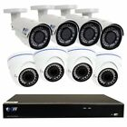 GW 8 Channel H.265 4K 8MP NVR with 4 x 5MP 1920p Dome Camera and 4 x 4MP 1520p B