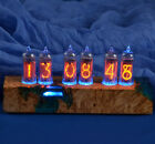 CLASSIC Wood Nixie Tube Clock on vintage IN-14 soviet nixie CLASSIC STYLE