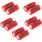 10xCR123 16340 2300Mah Rechargeable Li-ion Battery For Flashlight Toys Laser pen