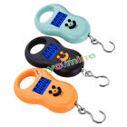 50Kg/10g LCD Digital Electronic Portable Hanging Weight Wide Scale Random color