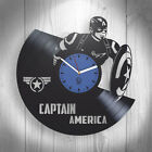 Captain America Comics Marvel Avengers Vinyl Wall Clock Best Gift Unique Design