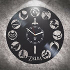Gift Idea For Gamer Zelda Vinyl Wall Clock Home Decor Birthday Gift Wall Art