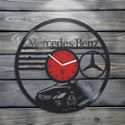 Mercedes-Benz wall clock vinyl record best new car gift room decor unique design