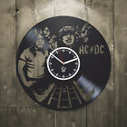 Wall clock vinyl AC DC living room decor home art best gift music unique design