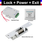 NC Electric Strike Door Lock Access Control Power Exit Button Switch for Video