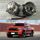2PCS Front Bumper Fog Light Clear LED Refit for Toyota Tundra 2014
