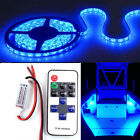Wireless Waterproof Blue LED Strip Light with Remote 16ft For Boat Truck Car Suv